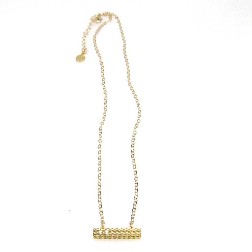 """Denmark"" Collection Bar Necklace with Swarovski Crystal"