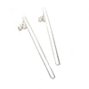 Sterling Silver Long Bar Earring
