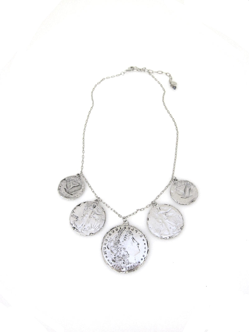 """Heritage"" Coin statement necklace"