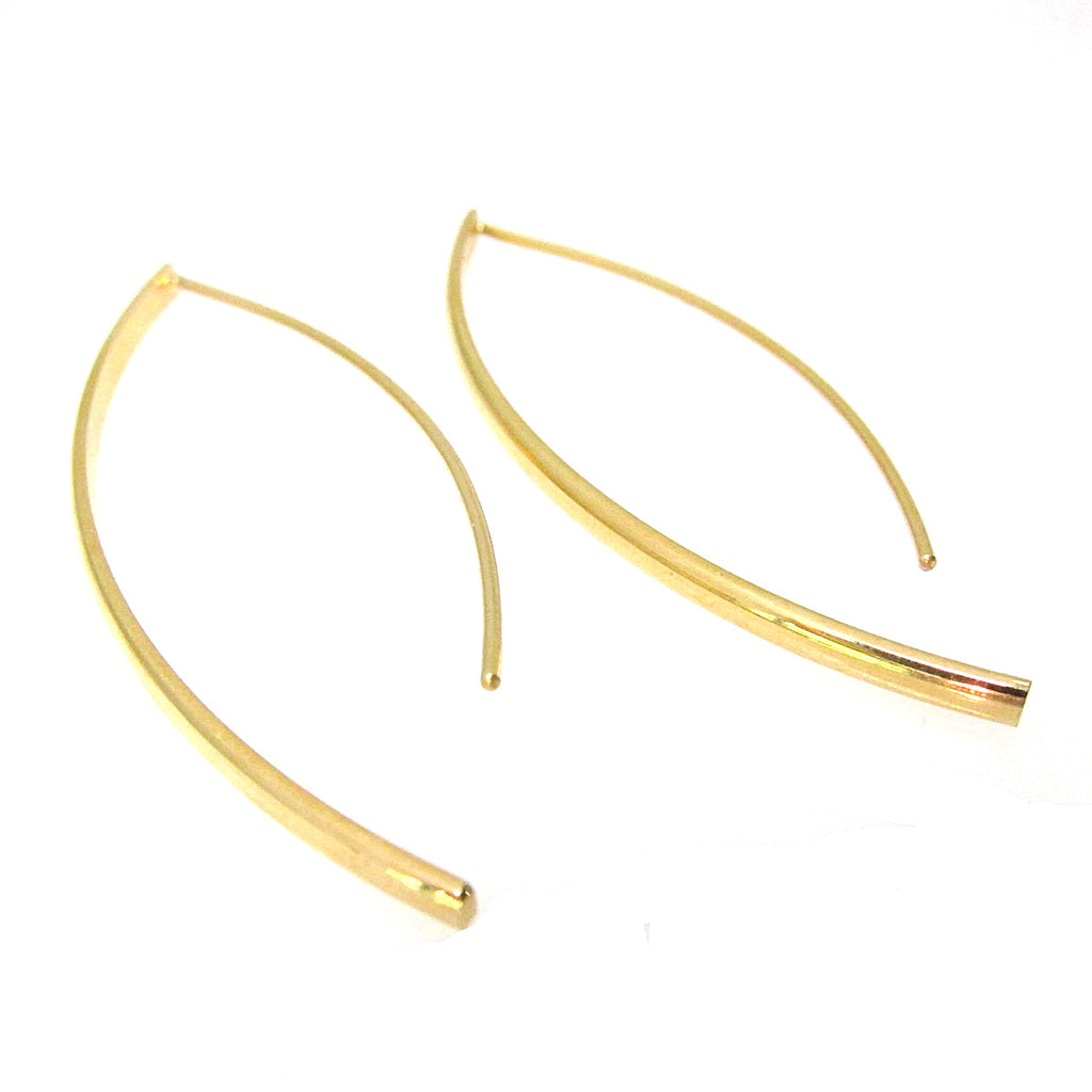 Sterling Silver Large Curve Earring