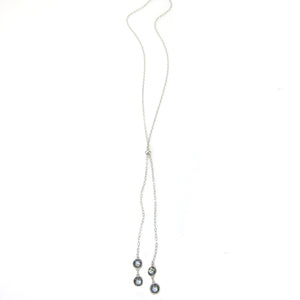 """Nina"" Double Bezel Slider Necklace"