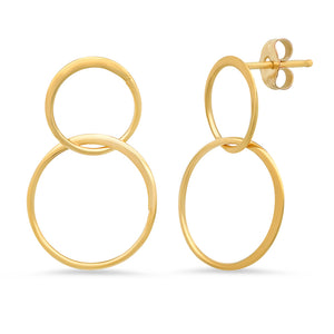 "Sterling & Vermeil Double ""Halo"" Circle Earring"
