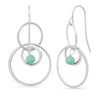 "Sterling and Semi-Precious ""Halo"" Circle Earrings"