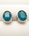 """Jasmine"" Oval Studs with Swarovski Crystals"