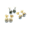 "Sterling Silver ""Audrey"" Studs with Swarovski Crystals"