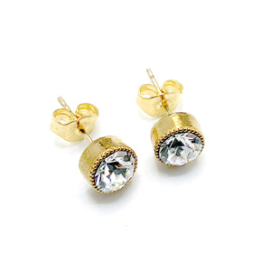 """Audrey"" Studs with Swarovski Crystals"