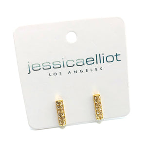 "Double Pave ""Alex"" Studs with Swarovski Crystals"