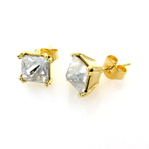 Swarovski Four Pronged Pyramid Stud