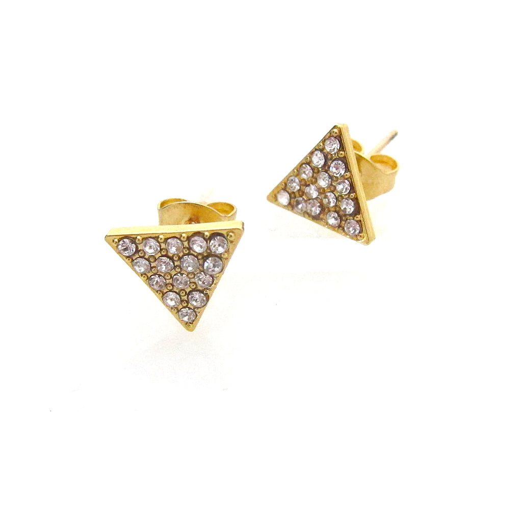 """Nora"" Studs with Swarovski Crystals"