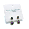 Sterling Silver Audrey Stud and Ear Jacket Sets with Swarovski Crystal