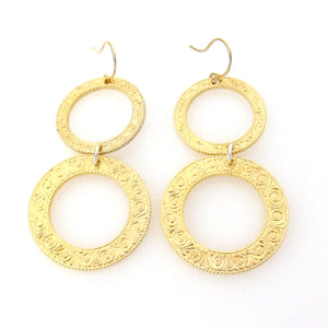 Eternity Circle Double Earrings