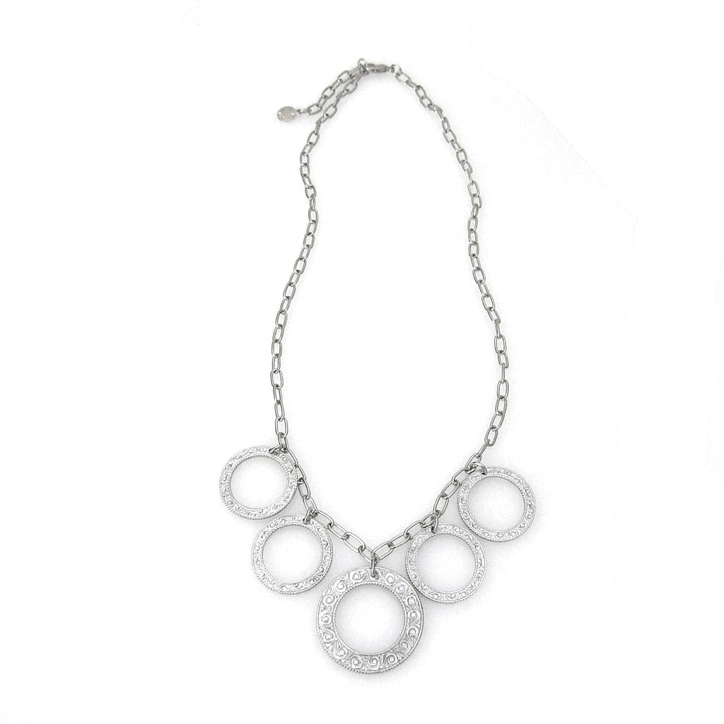 """Eternity Circle"" Bib Necklace"