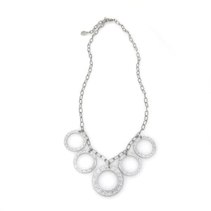 "Eternity Circle Statement ""Bib"" Necklace"