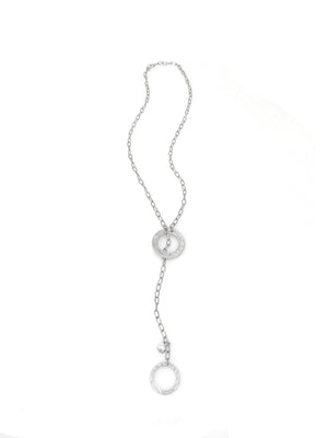 Eternity Circle Pull Through Necklace
