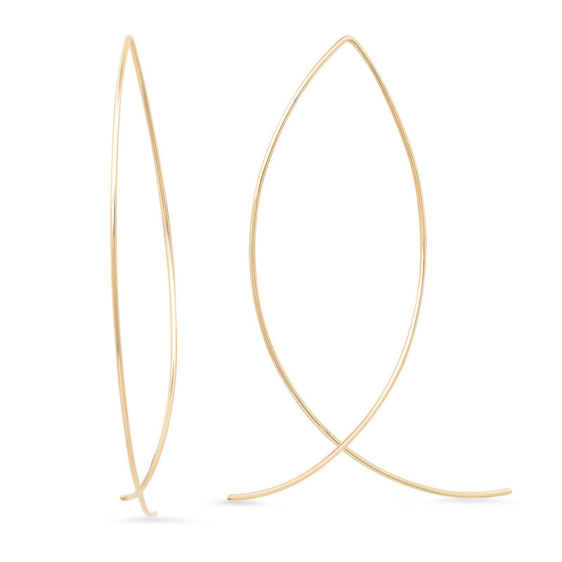 Large Sterling Silver and Gold-Filled Crisscross Ear Wires