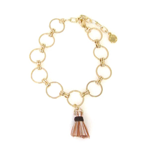 Eclipse Collection Circle Bracelet with Tassel