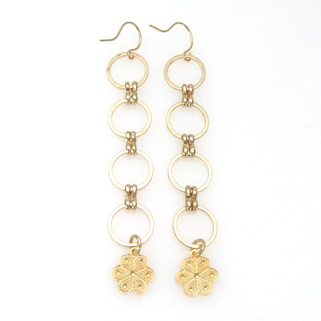 """Eclipse"" Earring with Charm"