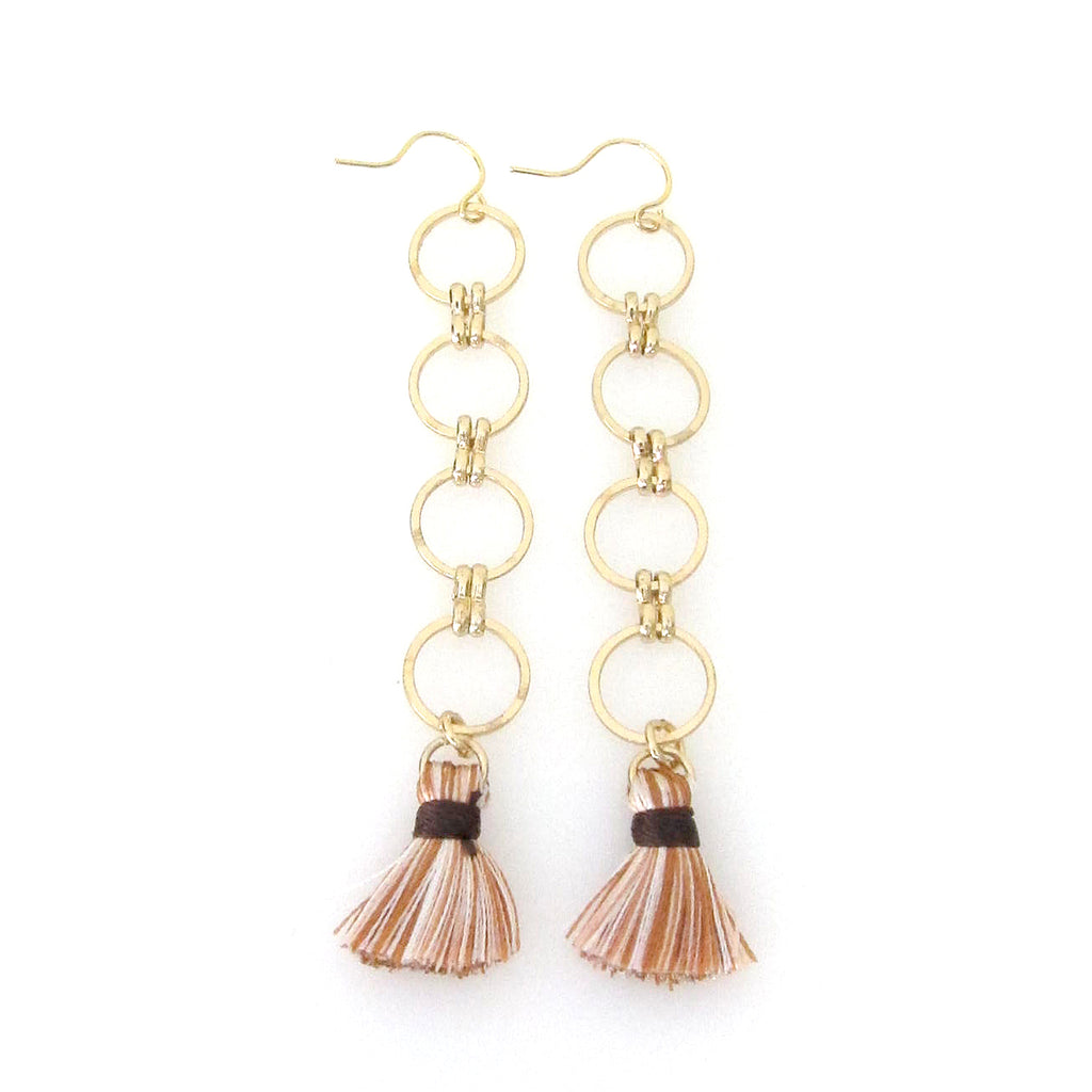 """Eclipse"" Earring with Tassel"