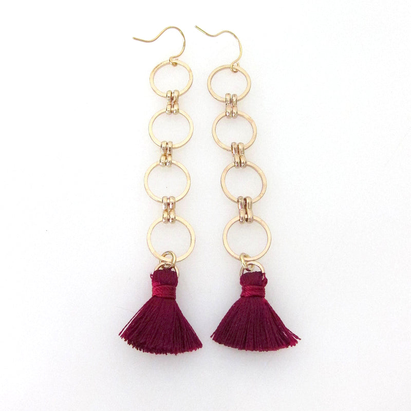 Eclipse Collection Circle Earring with Tassels