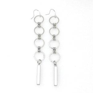 Eclipse Collection Circle Earring with Bars