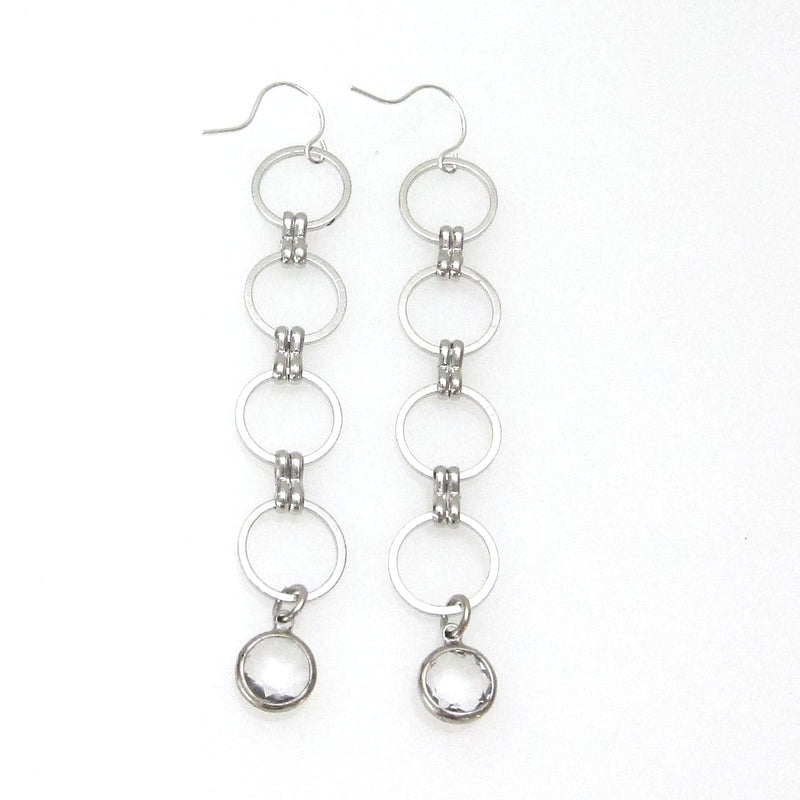 Eclipse Collection Circle Earring with Crystals