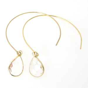 Jenea Open Hoops with Crystals
