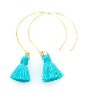 Janea Open Hoops with Thread Tassels
