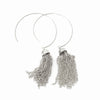 Janea Open Hoops with Chain Tassels