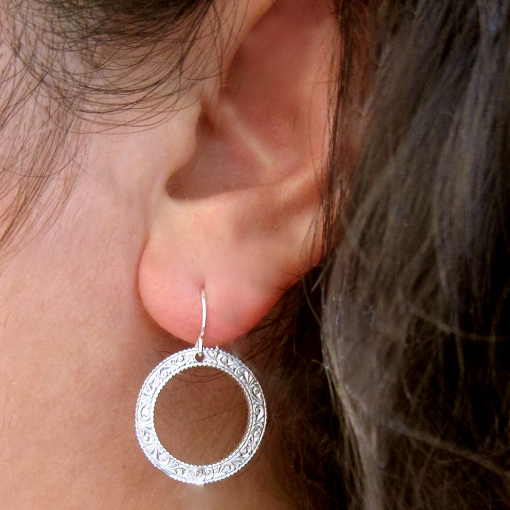 Eternity Circle Small Earrings