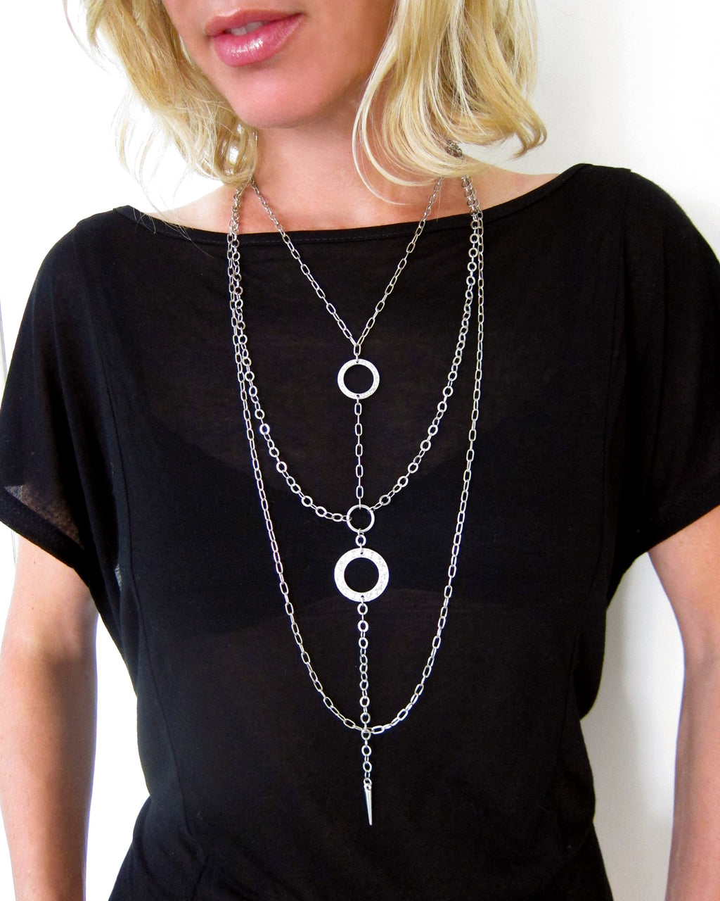 """Eternity Circle"" All-In-One Harness Necklace"