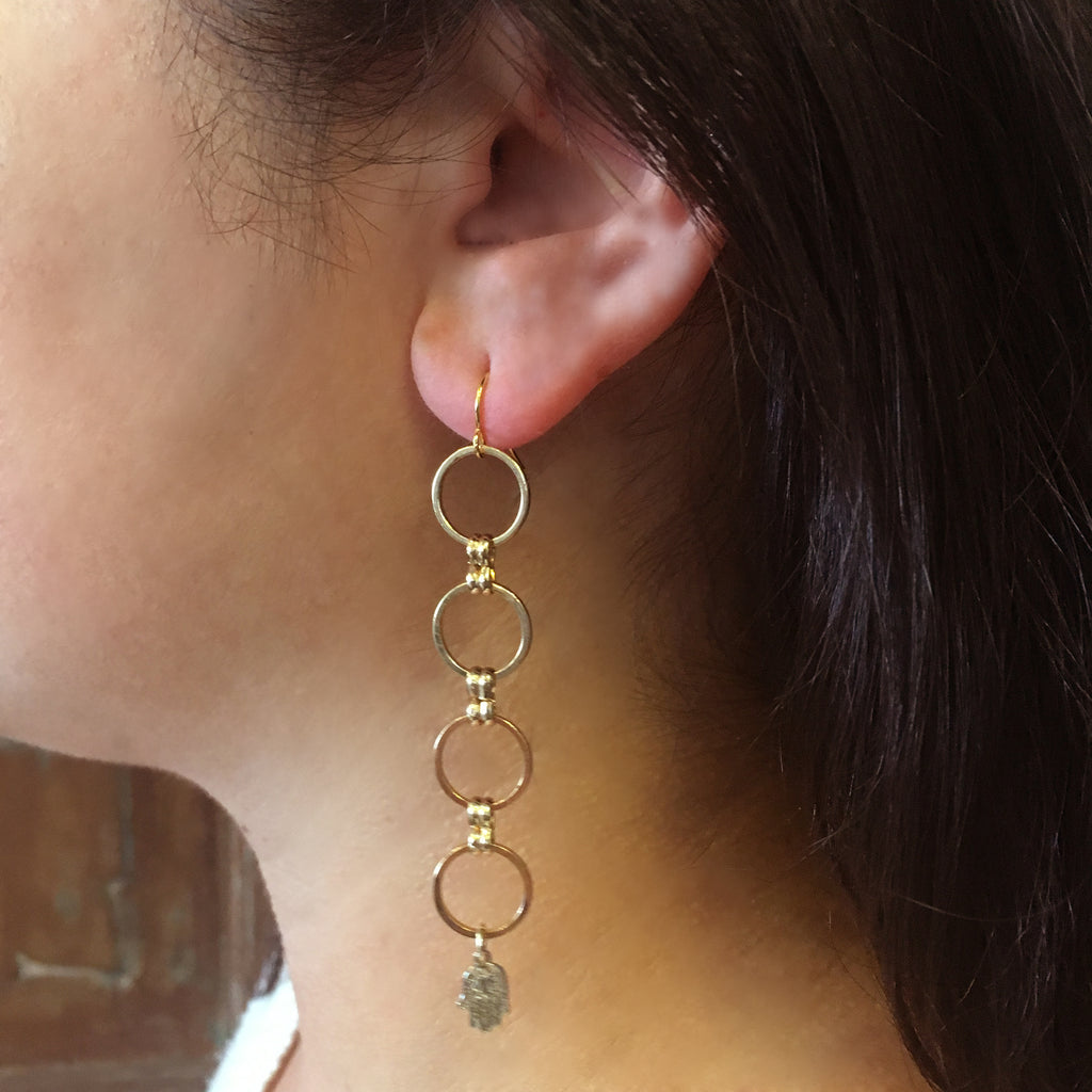 Eclipse Collection Circle Earring with Charms