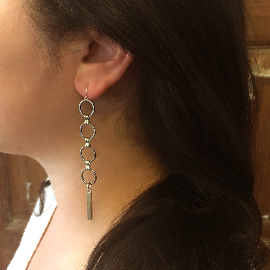 """Eclipse"" Earring with Bar"