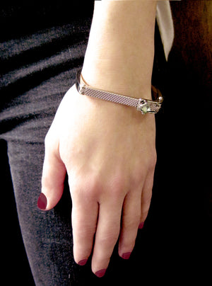 "The ""Camden"" Hinge Cuff with Swarovski Crystal"