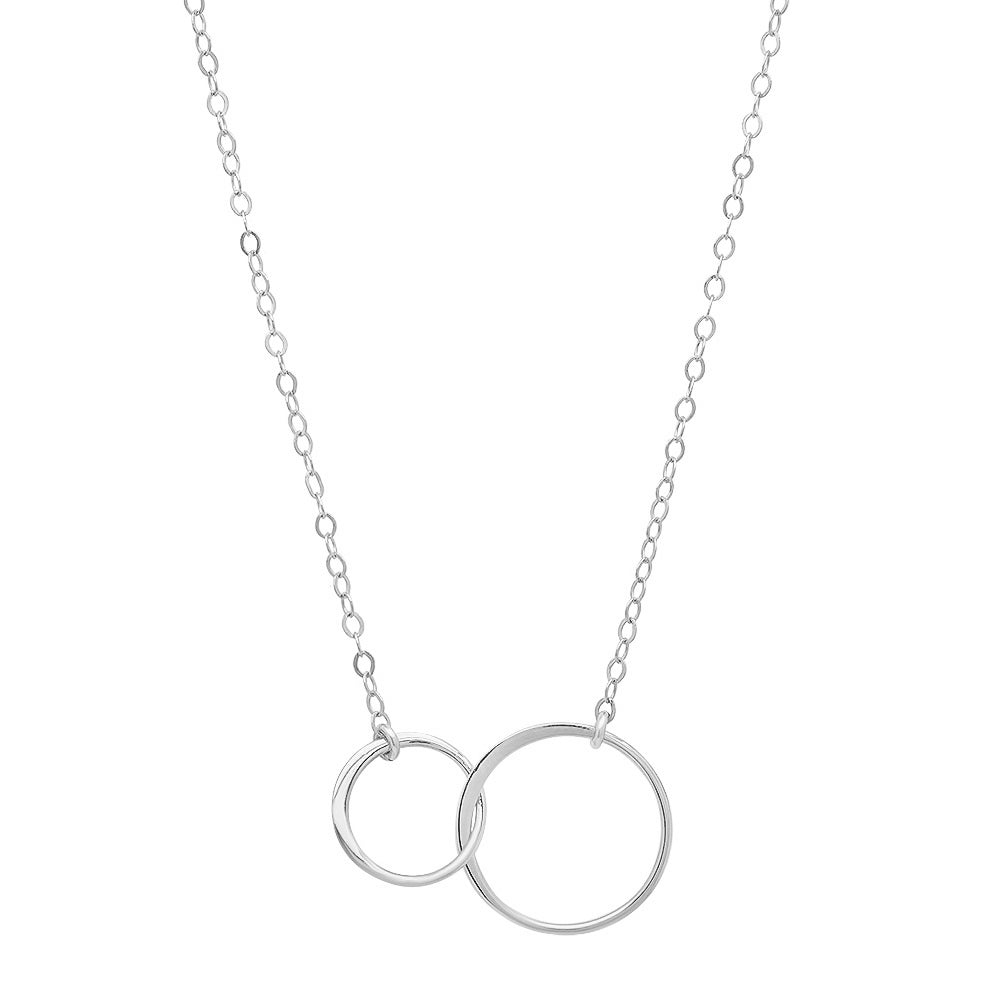 "Sterling & Vermeil Double ""Halo"" Circle Necklace"