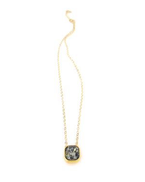 JE Classic Collection Cushion Cut Swarovski Crystal Pendant