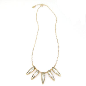 "Florentine ""Raindrop"" Cluster Statement Necklace"