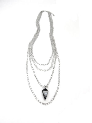 """Florentine"" Multi-Layered Long Kite Necklace"
