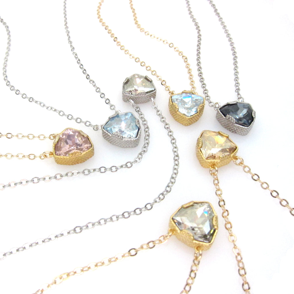 """Denmark"" Collection Swarovski Trilliant Cut Pendant Necklace"