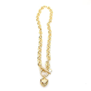 Denmark Collection Swarovski Trilliant Cut Toggle Necklace