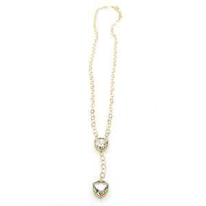 Denmark Collection Double Trilliant Cut Necklace