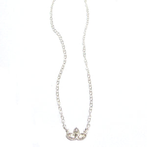 Sterling Silver Lotus Blossom Necklace with Swarovski Crystals