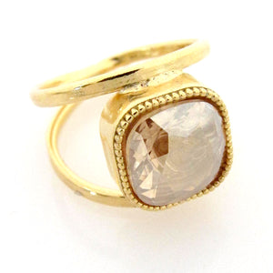 Open Shank Savannah Cocktail Ring with Swarovski Crystal