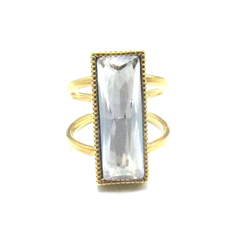 Open Shank Karina Cocktail Ring with Swarovski Crystal