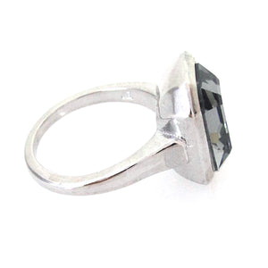 Step-Cut Cocktail Ring with Swarovski Crystal