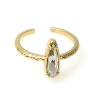 "Florentine Mini ""Raindrop"" Ring"