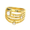 JE Classic Collection All-in-One Stackable Lana ring with Swarovski Crystal