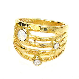 JE Classic Collection All-in-One Stackable Jolie ring with Swarovski Crystal