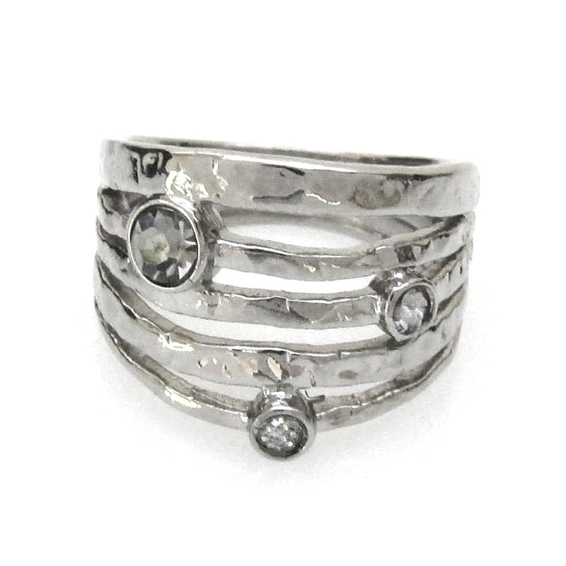 All-in-One Stackable ring with Swarovski Crystal