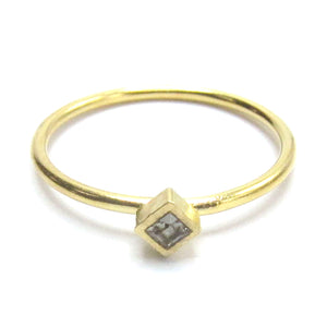 "Sterling Silver Stackable Ring with ""Diamond"" Swarovski Crystal"