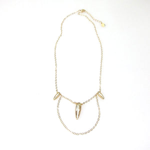 "Florentine ""Raindrop"" Delicate Combination Necklace"